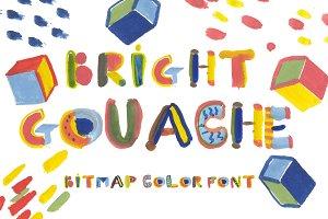 BRIGHT GOUACHE bitmap color font