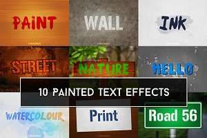 Painted Text Effects