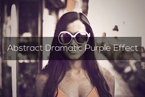 Abstract Dramatic Purple Effect