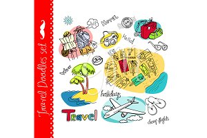 Travel clip art, vacation, tourism