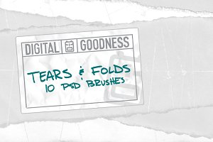 Tears and Folds PSD Brushes
