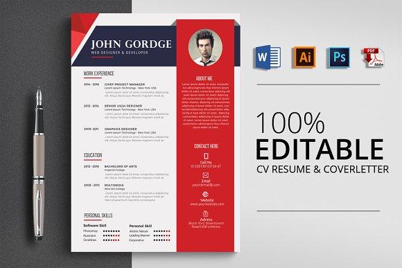 MS Word CV Resume Template