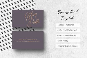 Elegant Gold Business Card 1