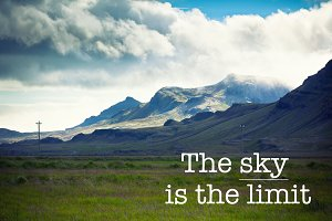 The sky is the limit, mountain