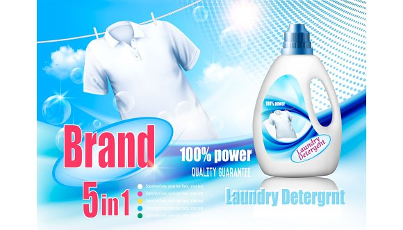 Laundry Detergent Ad Vector
