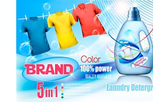 Laundry detergent ad.