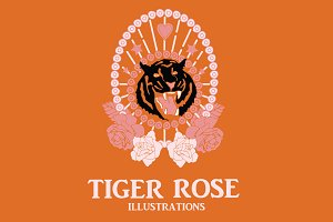 Tiger Rose Illustration Set