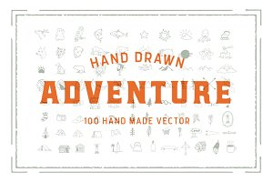 100 hand drawn adventure