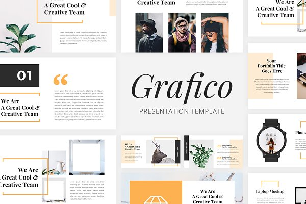 Presentation Templates: desvibes - Grafico - Creative PowerPoint