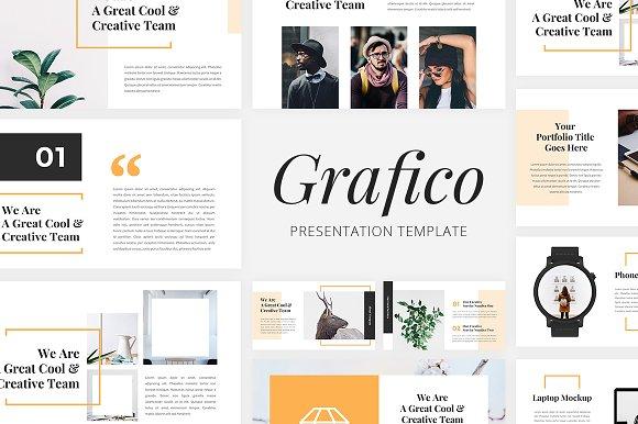 grafico creative powerpoint presentation templates creative market