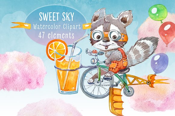 Sweet Sky Watercolor Collection