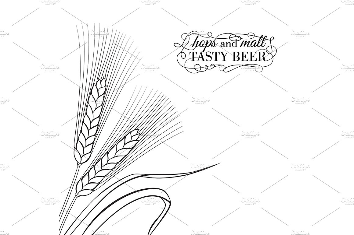 Ears of Wheat visual graphic ~ Illustrations ~ Creative Market