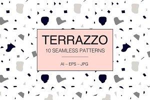 TERRAZZO 10 seamless patterns