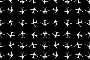 Planes Motif Seamless Pattern