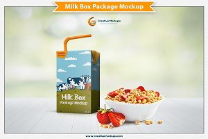 Milk Box Package Mockup