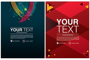 Background abstract design poster