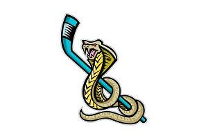 King Cobra Ice Hockey Sports Mascot