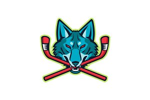 Coyote Ice Hockey Sports Mascot