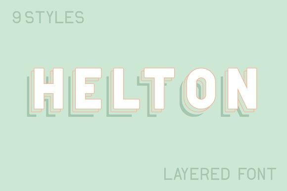 Helton Layered Typeface 9 Styles