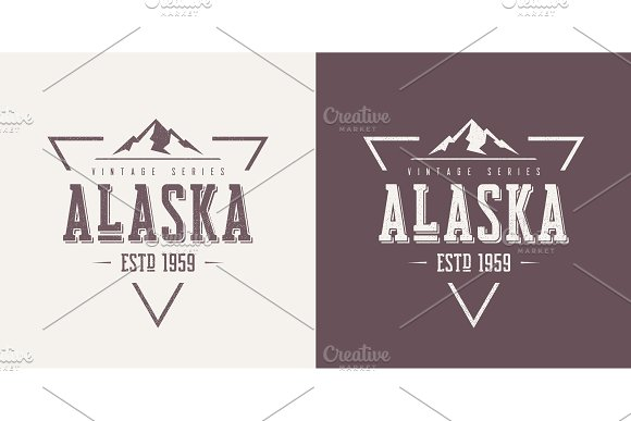 Alaska State Textured Vintage Vector T-shirt And Apparel Design