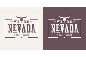 Nevada state textured vintage vector t-shirt and apparel design,