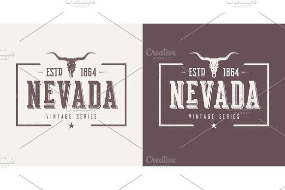Nevada State Textured Vintage Vector T-shirt And Apparel Design