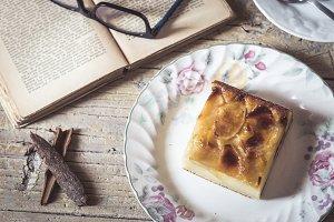 Sweet homemade apple cake