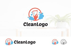 Wipe Glass Cleaning Assistant Logo