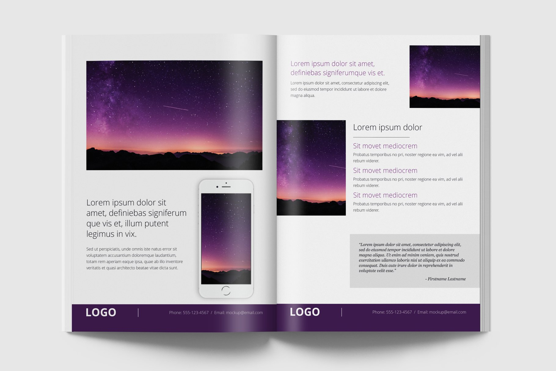 Mini Case Study Template V1 Brochure Templates Creative Market