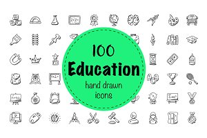 100 Education Doodle Icons