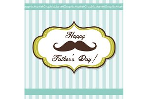 Father's Day Mustache Card template