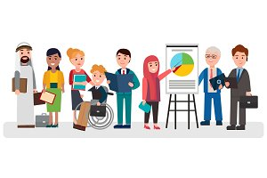 People that Involved in Business Illustration