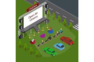 Open Air Cinema Concept Card