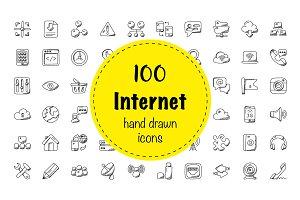 100 Internet Doodle Icons