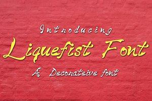 Liquefist Font