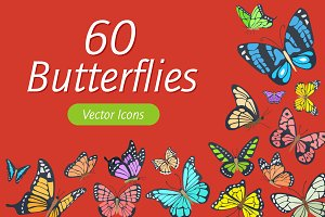 Butterflies Vector Icons