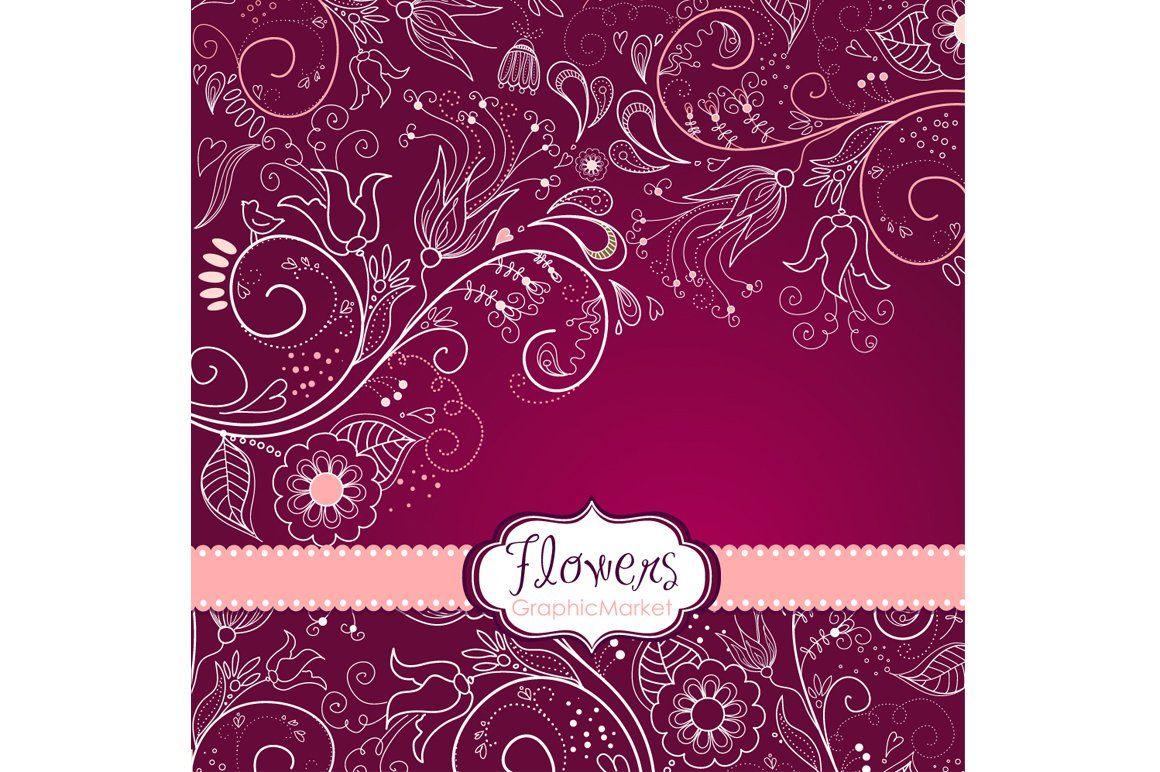 8 Flower Designs Floral Border Illustrations Creative Market