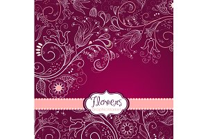 8 Flower Designs floral border