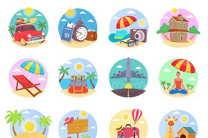 Summer and Holidays Illustrations