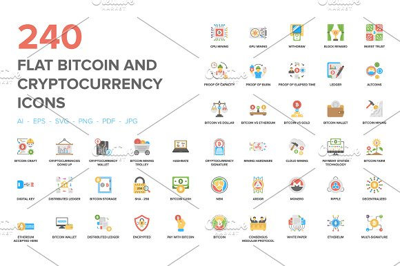 240 Bitcoin And Cryptocurrency Icon