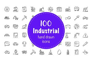 100 Industrial Doodle Icons