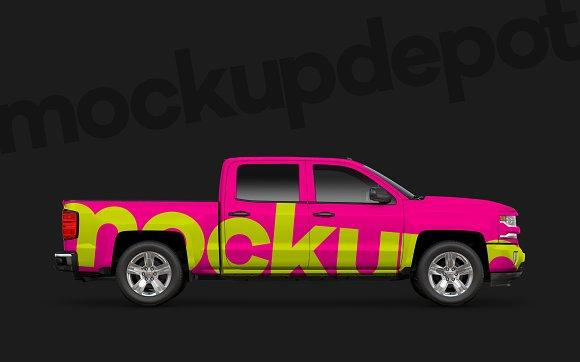 Chevy Silverado PSD Mockup
