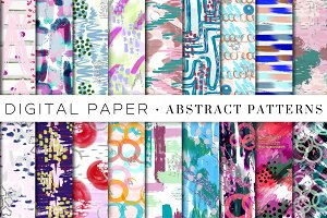 Abstract Art Digital Paper Bundle