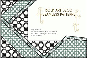 Bold Art Deco Seamless Patterns