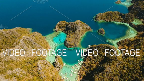 Beautyful Lagoon In Kayangan Lake Philippines Coron Palawan