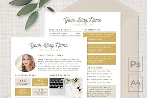 Blogger Media Kit Template - 2 Page