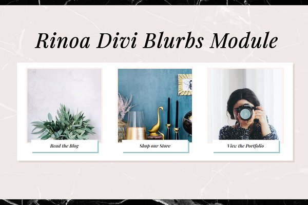 WordPress Plugins: CIRQUA - Rinoa Divi Blurb Module