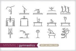 Minimal gymnastics icons