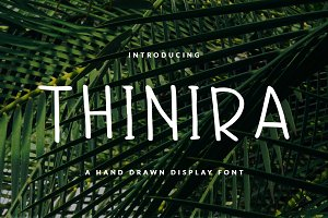 THINIRA FONT HEADER & BOOK