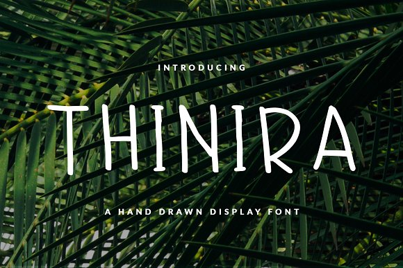 THINIRA FONT HEADER BOOK